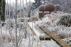 Frost Covered Garden in Winter | Broughton Grange | landscape design: Tom Stuart-Smith | photo: Andrew Lawson
