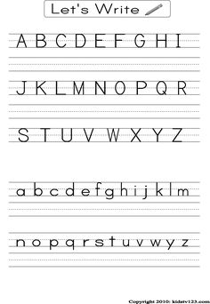 Alphabet, Numbers, Shapes practice sheets | Teacher Teacher ...