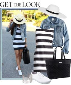 """""""stripes with denim"""" by melisali on Polyvore// Weekend outfit for sure!"""