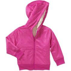 Healthtex Toddler Girl Cozy Sherpa Zip Hoodie, Size: 25 Months, Pink