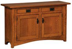 Arts and Crafts Sofa Cabinet in Quarter-Sawn Oak
