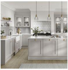 Grey Kitchen Designs, Kitchen Room Design, Modern Kitchen Design, Home Decor Kitchen, Interior Design Kitchen, Home Kitchens, Howdens Kitchens, Modern Grey Kitchen, Country Style Kitchens