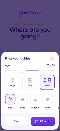 City guides iOS: Filters on Inspirationde Ios App Design, Mobile App Design, Web Design, Mobile App Ui, Flat Design, Graphic Design, Design Thinking, Motion Design, Ui Web