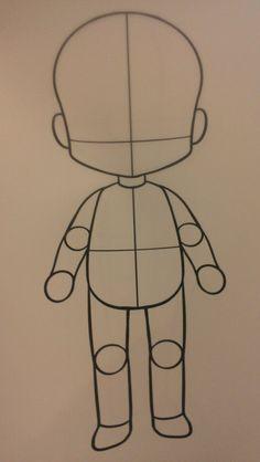 FREE chibi body template by KaotikKupkake on DeviantArt Drawing Base, Manga Drawing, Drawing Sketches, Body Drawing, Chibi Sketch, Anime Sketch, Kawaii Drawings, Easy Drawings, Outline Drawings