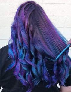 531 Likes, 26 Kommentare - Nichole Scharff ( auf Ins. Hair Color Purple, Hair Dye Colors, Cool Hair Color, Diy Hairstyles, Pretty Hairstyles, Easy Hairstyle, Galaxy Hair, Ombré Hair, Pinterest Hair