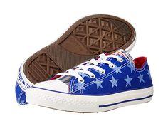 Converse Kids Chuck Taylor® All Star® Ox (Little Kid/Big Kid) Radio Blue/White - Zappos.com Free Shipping BOTH Ways