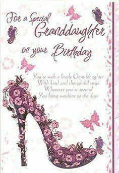 Granddaughter Birthday Verses For Cards