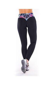 BLACK TROPICANA leggings