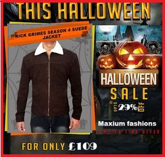 Visit: http://www.amazon.co.uk/Looking-Grimes-Walking-Season-Jacket/dp/B00O1Z9F4W/ We are presenting another outstanding #attire this #Halloween designed by our #fashionstore that is #RickGrimes  stylish suede #jacket grab this super exciting offer today!! #mens #swag #sales #deals #shopping #mensfashion #clothing #cosplay #celebs #celeb #witches #vintage #nails #selfdone #queen #wicked #myboys #scary