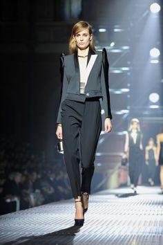 A model walks the runway during the Lanvin Spring / Summer 2013 show as part of Paris Fashion Week at Les Beaux Arts de Paris on September 27, 2012 in Paris, France.