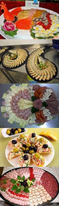 �?деи оформления праздничных блюд и нарезки   Домохозяйка