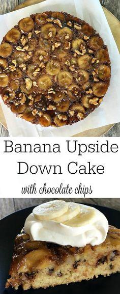 Banana upside down cake, Upside down cakes and Bananas on Pinterest
