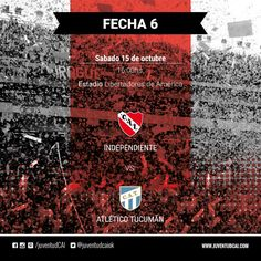 HOY INDEPENDIENTE  #Independiente y Atlético Tucumán se enfrentan por la fecha 6 del torneo de Primera División  #VamosRojo