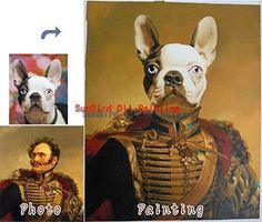 Custom pet oil portrait painting-Paint face onto master famous history painting-Original Family-Wedding-Pet portrait oil painting and etc-One figure -- To view further for this item, visit the image link.