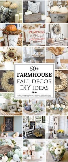 50 Farmhouse Fall Decor Ideas, What a great way to start the season off with some great fall Decor ideas.