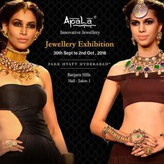 It's time to get your hands on the unique collection from Apala by Sumit at our Jewellery Exhibition 'Heavenly Treasures' being held at Park Hyatt, Hyderabad from 30th Sept to 2nd Oct, 10:30am to 8pm. Do not miss it!   #BollywoodForApala  #jewellery #bollywood #bollywoodcelebrities #jewellerydesign