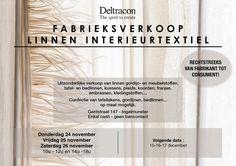 Fabrieksverkoop Linnen Interieurtextiel (November 2016) -- Ingelmunster -- 24/11-26/11