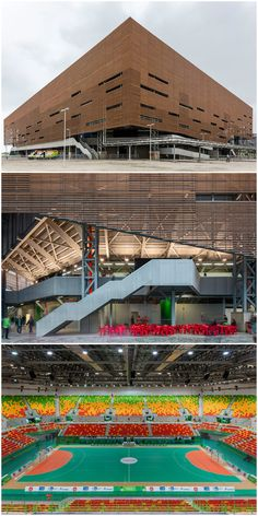 Rio 2016: the handball arena by Local studios Oficina de Arquitetos and Lopes, Santos & Ferreira Gomes worked with UK firm AndArchitects to create the 12,000-seat Future Arena.