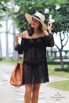 Make a simple off the shoulder beach dress www.apairandasparediy.com by apairandaspare, via Flickr