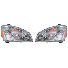 Headlights Headlamps Pair Set Left LH & Right RH for 02-04 Nissan Altima #AftermarketReplacement
