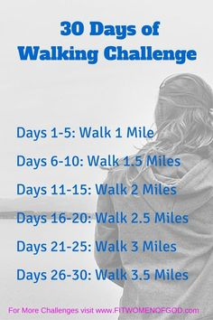 Free Walking Plan- April's challenge is the 30-day Walking Challenge