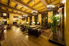 The Ahwahnee Hotel lobby at Yosemite National Park, California