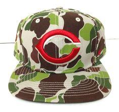 23df8fbd3 New CINCINNATI REDS CAMO SNAPBACK HAT Green Brown BIG LOGO camouflage  Men Women
