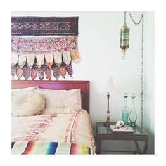 bedroom inspo ❤️ via @golddustgoods || vintage Indian torans online now || 40-70% off July clearance ends SUNDAY ❤️