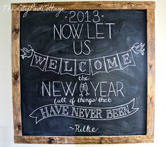 Chalkboard writing (menu board)