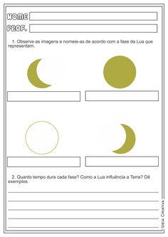 As fases da Lua Ciências Atividades Ensino Fundamental