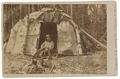 What were the chippewas homes made out of