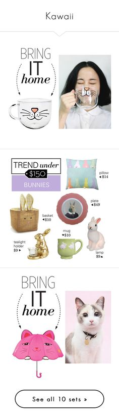 """""""Kawaii"""" by krystal-tsuki ❤ liked on Polyvore featuring interior, interiors, interior design, home, home decor, interior decorating, bringithome, Sur La Table, Home Essentials and Pier 1 Imports"""