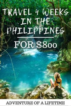 Travel 4 Weeks in The Philippines for $800. Complete travel guide to The Philippines with the must-see places and great budget tips! Just follow this complete guide and do not worry about anything else than having a great time! Australia Travel, The Philippines, Philippines Travel Guide, Vacation Meme, Florida Vacation, Travel Ideas, Travel Inspiration, Travel Hacks, Cheap Travel