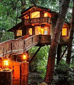 Follow @destination.earth for more amazing photos Dreamy tree house in Seattle photo by Will Austin by fantastic_earth