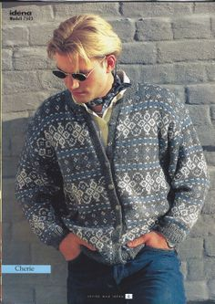 Idena 7503 Sweater Knitting Patterns, Knit Patterns, Nordic Sweater, Men Sweater, Norwegian Knitting, Fair Isle Pattern, Fair Isle Knitting, Autumn Winter Fashion, Winter Style