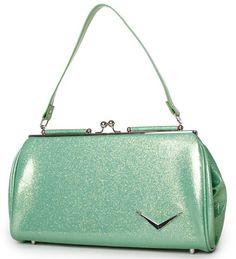 Lux De Ville Get Away Metallic Mint Green purse