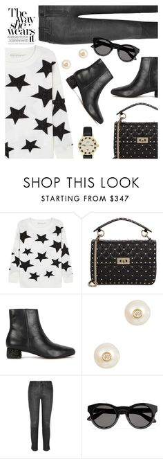 """""""Street Style"""" by dressedbyrose ❤ liked on Polyvore featuring Alice + Olivia, Valentino, Raye, Anissa Kermiche, Frame, Givenchy, Kate Spade, StreetStyle, ootd and stars"""
