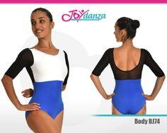 Body colori personalizzabili - Modello BJ74 Body per danza moderna composto da tre colori personalizzabili. Una divisa che in determinati abbinamenti colori o con l'impiego di stoffe fantasia si presta anche a spettacoli e rappresentazioni in pubblico. #bodydanza #abbigliamentodanza #danzamoderna #bodyspettacolidanza