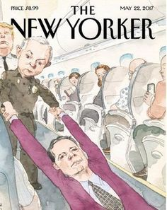The New Yorker has cast President Donald Trump and Attorney General Jeff Sessions as villains dragging ousted FBI chief James Comey from an airplane. (Contributed photo/New Yorker)