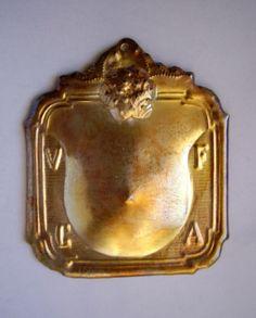 Silverplated icon Ex-voto,breast healing,italian