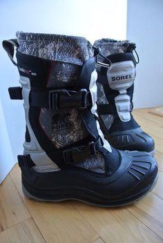 Sorel Men's Alpha Trac Buckle Winter Snow Boots Waterproof NM1643 Size 8 NICE #Sorel #SnowWinter