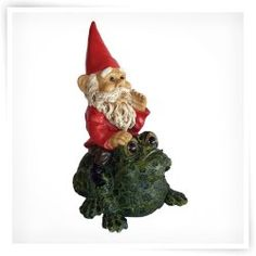 Michael Carr Garrold Gnome On Toad Resin Statue