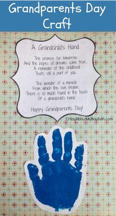 Grandparents Day Craft | Handprint Craft #CraftsforKids