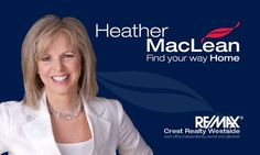 Business Card design for REALTOR Heather MacLean (www.heathermaclean.ca)   #Vancouver #Real #Estate #Design #Branding #Featuresheets #Buyers #Sellers #Packages #Business #Cards #Mailouts #Brochures #Pamphlets #REALTOR