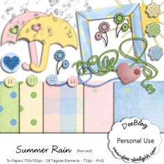 Summer Rain by Dees Deelights (PU ONLY)