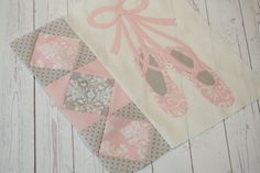 Do you have a future ballerina in your life? I'm working on the cutest baby quilt for little girls called Twinkle Toes. I'll be showing you more blocks soon. It's made with the beautiful new fabric line from Bunny Hill called Lily & Will Revisited. Pink & Gray love!