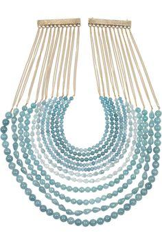 Strands of blue #necklace