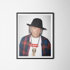 Neil Young Supreme Poster Wall Art Digital Download by PrintClub