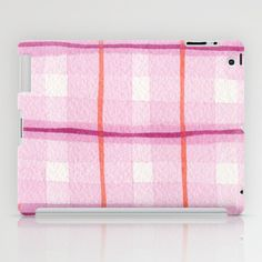 Raspberry Plaid iPad Case by Social Proper + Society6