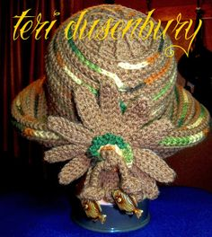 original crochet design by teri tatbit dusenbury 2007 my crochet hats pinterest pixies. Black Bedroom Furniture Sets. Home Design Ideas